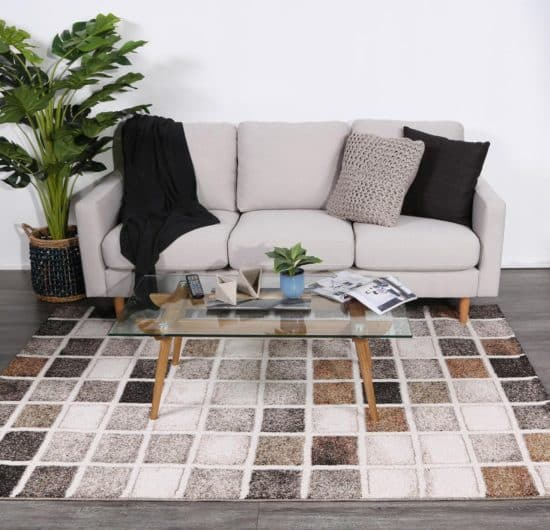 Chequerboard Pattern Rug