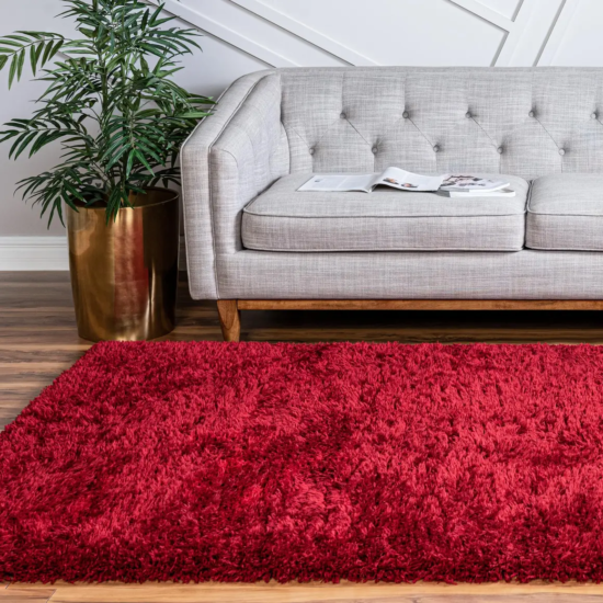 Vibrant Red Rug